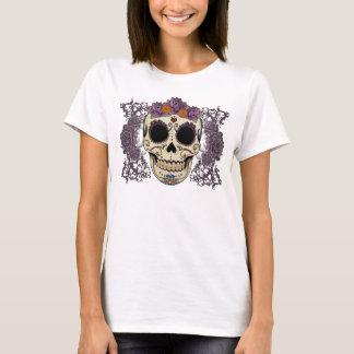 Vintage Skull and Roses Ladies T-Shirt