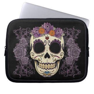Vintage Skull and Roses Laptop Sleeve