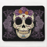 Vintage Skull and Roses Mousepads