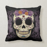 Vintage Skull and Roses Pillow