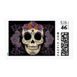 Vintage Skull and Roses Postage