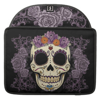 Vintage Skull and Roses Sleeve For MacBook Pro