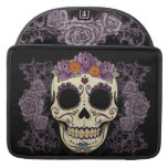 Vintage Skull and Roses Sleeves For MacBook Pro