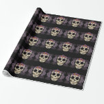 Vintage Skull and Roses Wrapping Paper