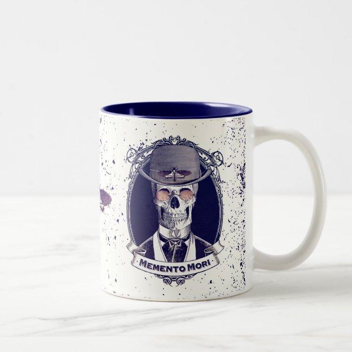Vintage Skull Art Memento Mori mug