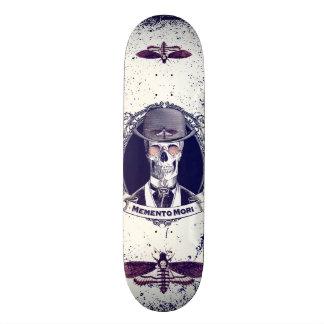 Vintage Skull Art Memento Mori skateboard