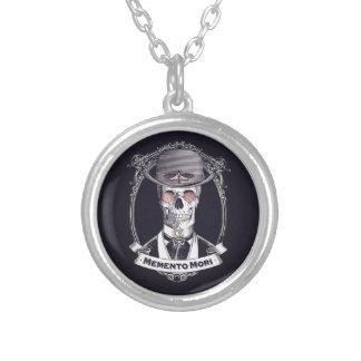 Vintage Skull Cameo Memento Mori necklace
