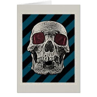 Vintage Skull Card