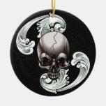 Vintage Skull Christmas Tree Ornament