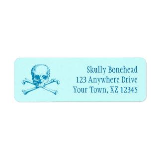 Vintage Skull & Crossbones Label