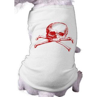 Vintage Skull & Crossbones Pet Tshirt