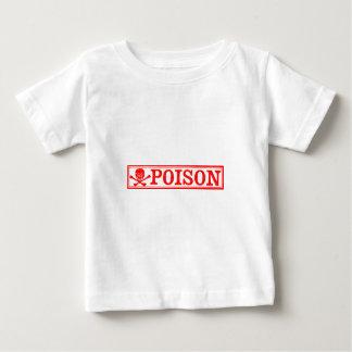 Vintage Skull & Crossbones Poison Label Baby T-Shirt