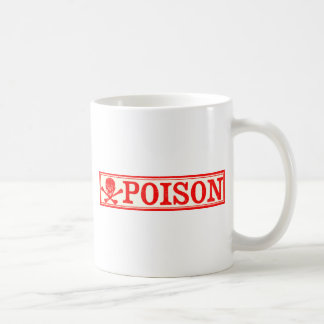 Vintage Skull & Crossbones Poison Label Coffee Mug