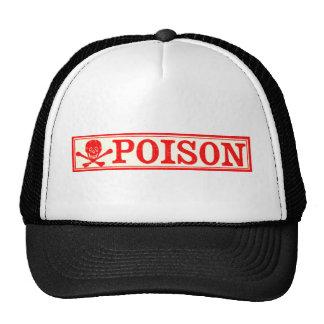 Vintage Skull & Crossbones Poison Label Trucker Hat