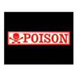 Vintage Skull & Crossbones Poison Label Post Cards