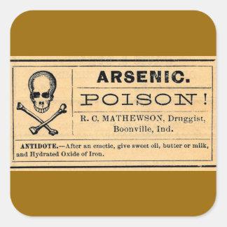 Vintage Skull Crossed Bones Arsenic Poison Label