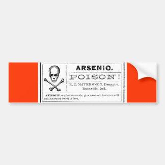 Vintage Skull Crossed Bones Arsenic Poison Label Bumper Sticker
