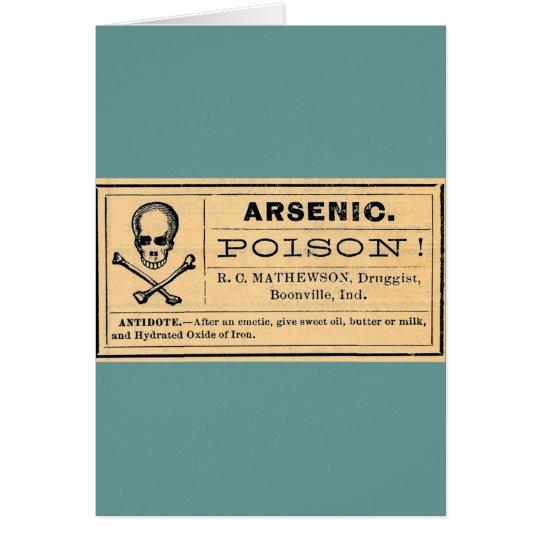 Vintage Skull Crossed Bones Arsenic Poison Label Card