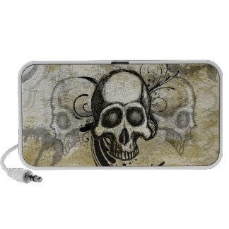 Vintage Skull Doodle iPod Speaker