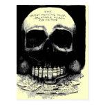 Vintage Skull Drug Ad Postcard