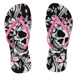 Vintage Skull Flip Flops