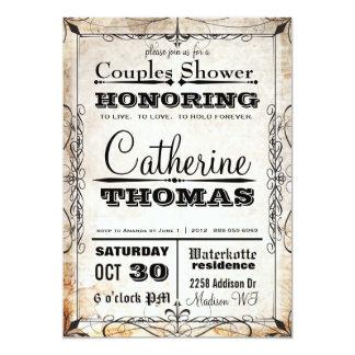 Vintage Skull & Flourishes Couples Shower Invite
