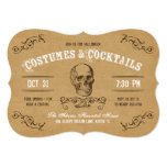 Vintage Skull Halloween Costume and Cocktail Party Invites
