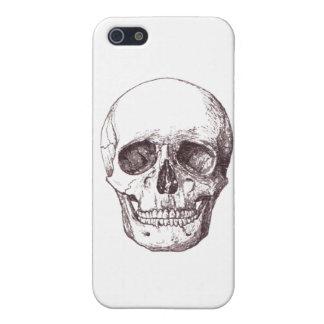 Vintage Skull Illustration Custom Background iPhone 5 Cover