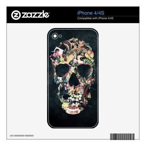 Vintage Skull iPhone 4S Decals