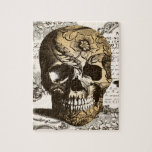 "Vintage Skull Jigsaw Puzzle<br><div class=""desc"">A vintage skull with flowers and fluer de lis designs.</div>"