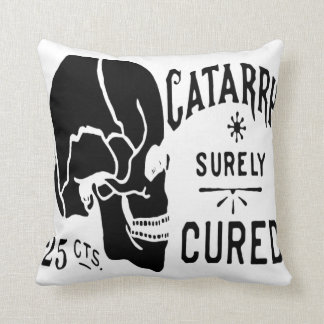 Vintage Skull Label American MoJo Pillow