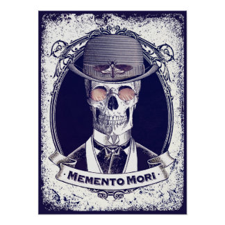 Vintage Skull Memento Mori poster