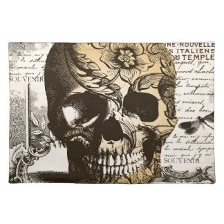 Vintage Skull Cloth Placemat