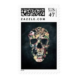 Vintage Skull Postage Stamp
