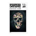 Vintage Skull Postage Stamps
