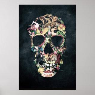 Vintage Skull Poster at Zazzle