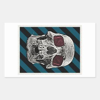 Vintage Skull Rectangular Sticker