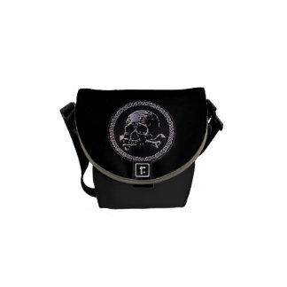 Vintage Skull round icon Messenger Bag