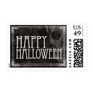 Vintage Skull Stamp Halloween