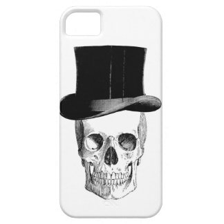 Vintage Skull with Tophat iPhone 5 Case