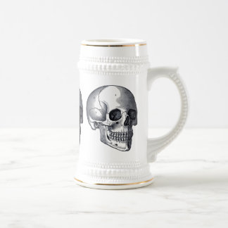 Vintage Skulls Gothic Punk Beer Stein 18 Oz Beer Stein