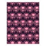 Vintage Skulls Pink and Purple Letterhead