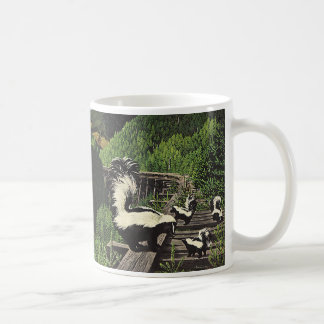 Vintage Skunks, Wild Animals and Forest Creatures Classic White Coffee Mug