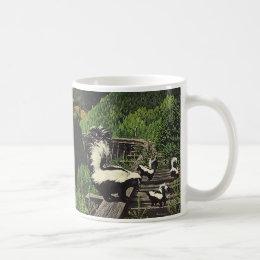 Vintage Skunks, Wild Animals and Forest Creatures Coffee Mug