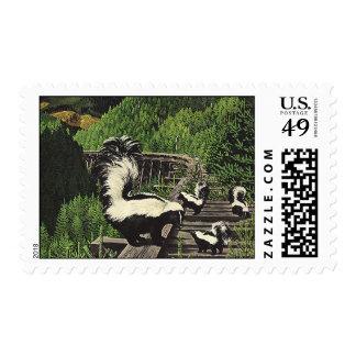 Vintage Skunks, Wild Animals and Forest Creatures Postage