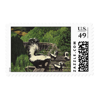 Vintage Skunks, Wild Animals and Forest Creatures Postage