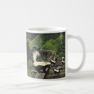 Vintage Skunks, Wild Animals, Forest Creatures Classic White Coffee Mug