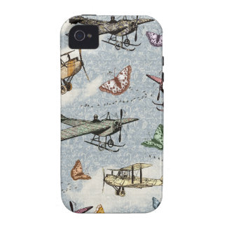 Vintage Sky - Planes and Butterflies iPhone 4 Covers