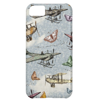 Vintage Sky - Planes and Butterflies Case For iPhone 5C