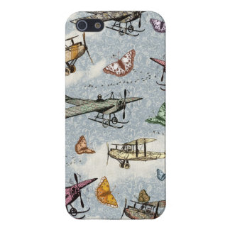 Vintage Sky - Planes and Butterflies iPhone 5 Case